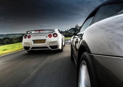 Nissan GT-R vs. Porsche